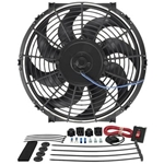 Derale Performance Tornado Electric Fan, Single, 12 in. Diameter, Reversible, 880 cfm, Black, Plastic 16512