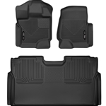 Husky Liners 15-19 Ford F-150 SuperCrew Cab Front & 2nd Seat X-Act Contour Floor Liners 53498