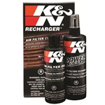 K&N Air Filter Cleaner/Oil, Recharger, Red, 12 oz., Pump/8 oz. Squeeze Bottle, Kit 99-5050