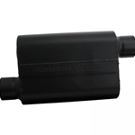 Flowmaster Muffler, Super 44 Series, 3 in. Inlet/3 in. Outlet, Steel, Black Aluminized, Each 943048