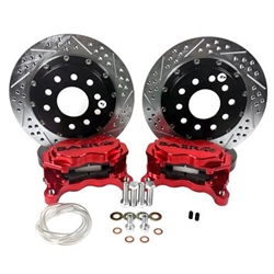 Brake System 11 Inch Rear SS4+ Deep Stage Fire Red 2015 Mustang BAER Brakes 4262695FR
