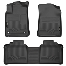 Husky Liners 13-14 Toyota Avalon Electric/Gas Weatherbeater Black Front & 2nd Seat Floor Liners 98501