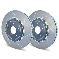 Girodisc Front 2pc Floating Cast Iron Rotor Conversion for 981 GT4 w/original PCCB Rotors A1-156