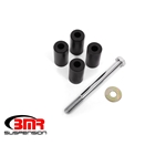 BMR 15-18 Ford Mustang S550 Rear Cradle Bushing Kit w/ Centering Sleeves- Black SCB766