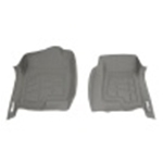 Westin 2002-2006 Cadillac/Chevy/GMC Escalade/Escalade EXT Wade Sure-Fit Floor Liners Front - Gray