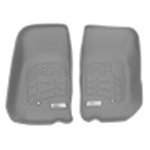 Westin 2007-2013 Jeep Wrangler/Wrangler Unlimited Wade Sure-Fit Floor Liners Front - Gray