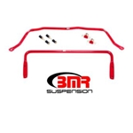 BMR 91-96 B-Body Front & Rear Solid Sway Bar Kit w/ Bushings - Red
