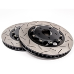 Chevy Camaro, Chevy SS, Pon G8 T3 5000 Series Slotted Rotor Black Hat - Front Pair DBA52314BLKS