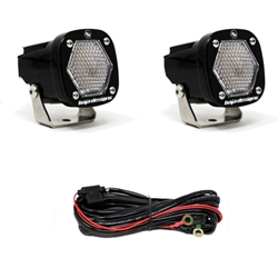 Baja Designs S1 Work/Scene LED Light Backup Kit w/ Mounting Bracket Pair