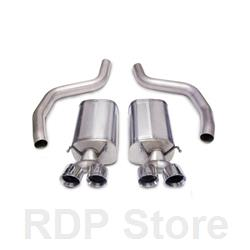 "Corsa Sport  3""  Dual Rear Exit; Twin 4"" Polished Tips  14164"