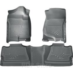 Husky Liners 07-13/14 Chevy Silverado/GMC Sierra Crew Cab WeatherBeater Combo Gray Floor Liners 98202