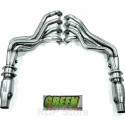 "Kooks 2016 Camaro SS V8 2"" Long Tube Headers and Green Catted pipes 2260H630 - Coated"